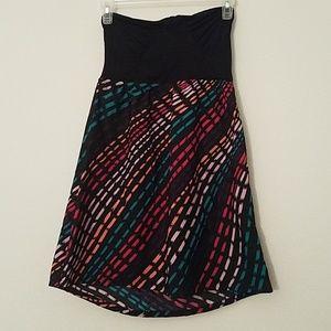 Roxy strapless print dress